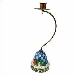 Jim Shore Christmas ornament hanger candle holder
